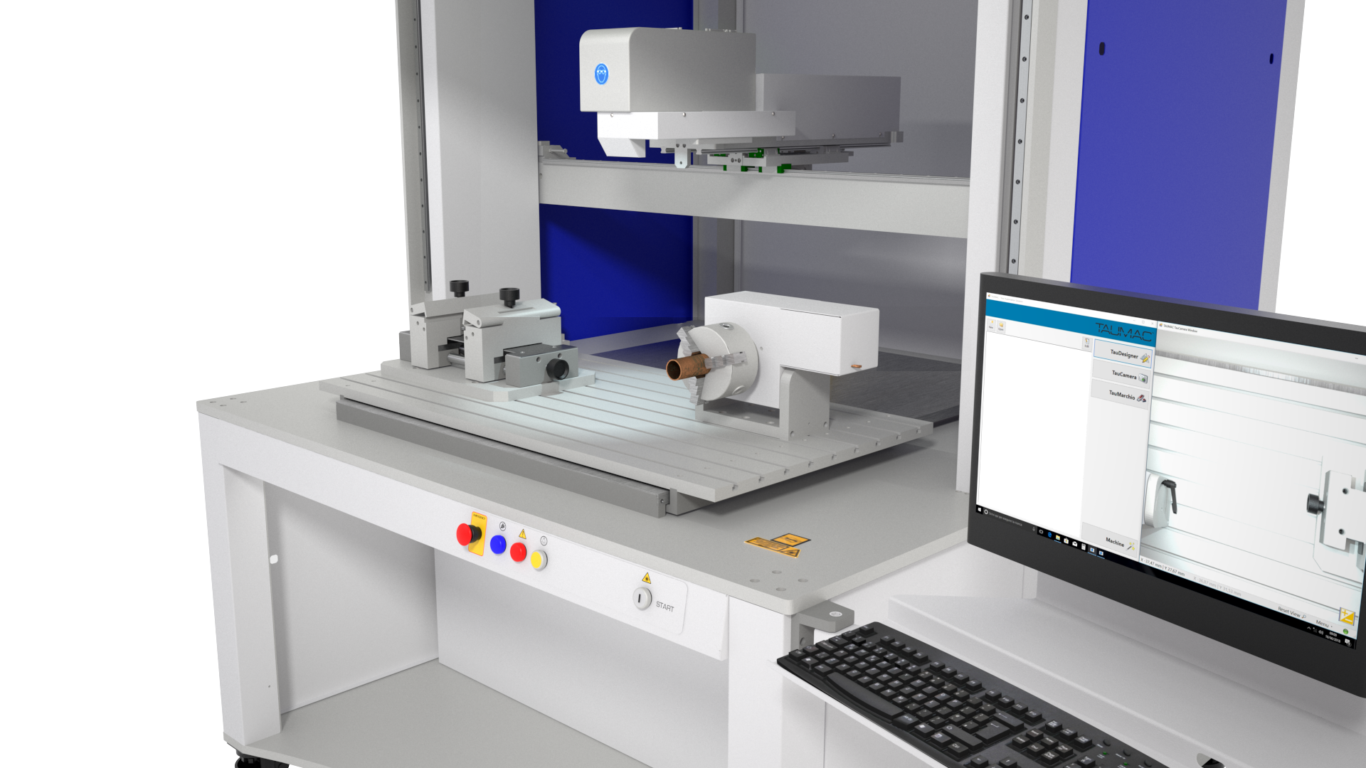 marcatrice laser TAUMARK - scanner con area di lavoro 600x600